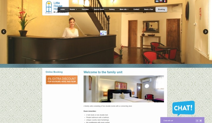 אתר אינטרנט מלונות בית קטן